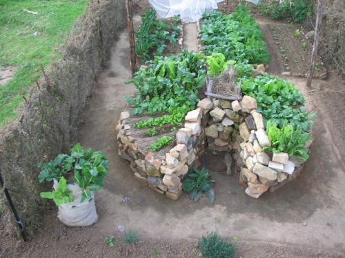 african_gardens_lesotho_keyhole_garden_above